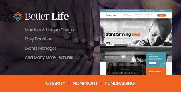 BetterLife - WordPress Theme For Churches And Charity