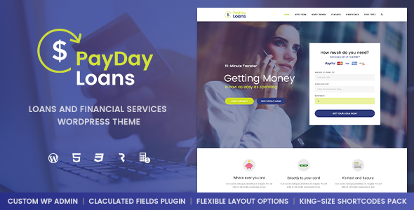 Download Payday Loans - Banking,  Loan Business & Finance WordPress Theme nulled download