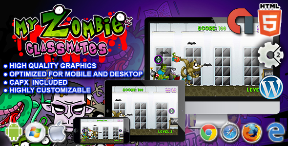 My Zombie Classmates - HTML5 Construct Game