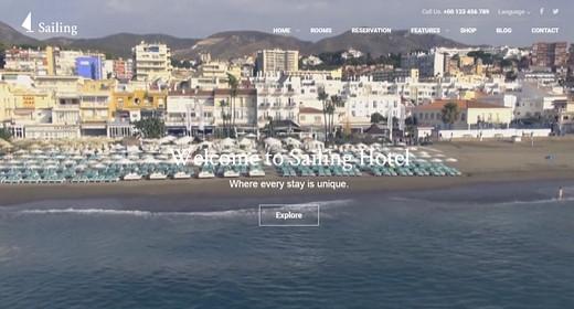 Amazing Hotel WordPress Theme 2016