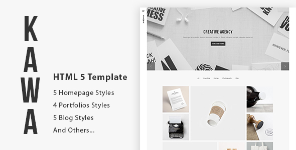 Kawa - Agency and Portfolio HTML5 Template