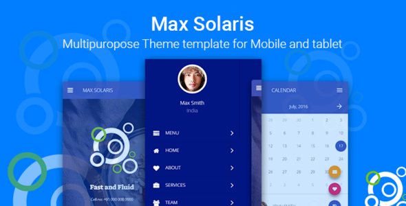 Max Solaris | Responsive Tablet and Mobile HTML template