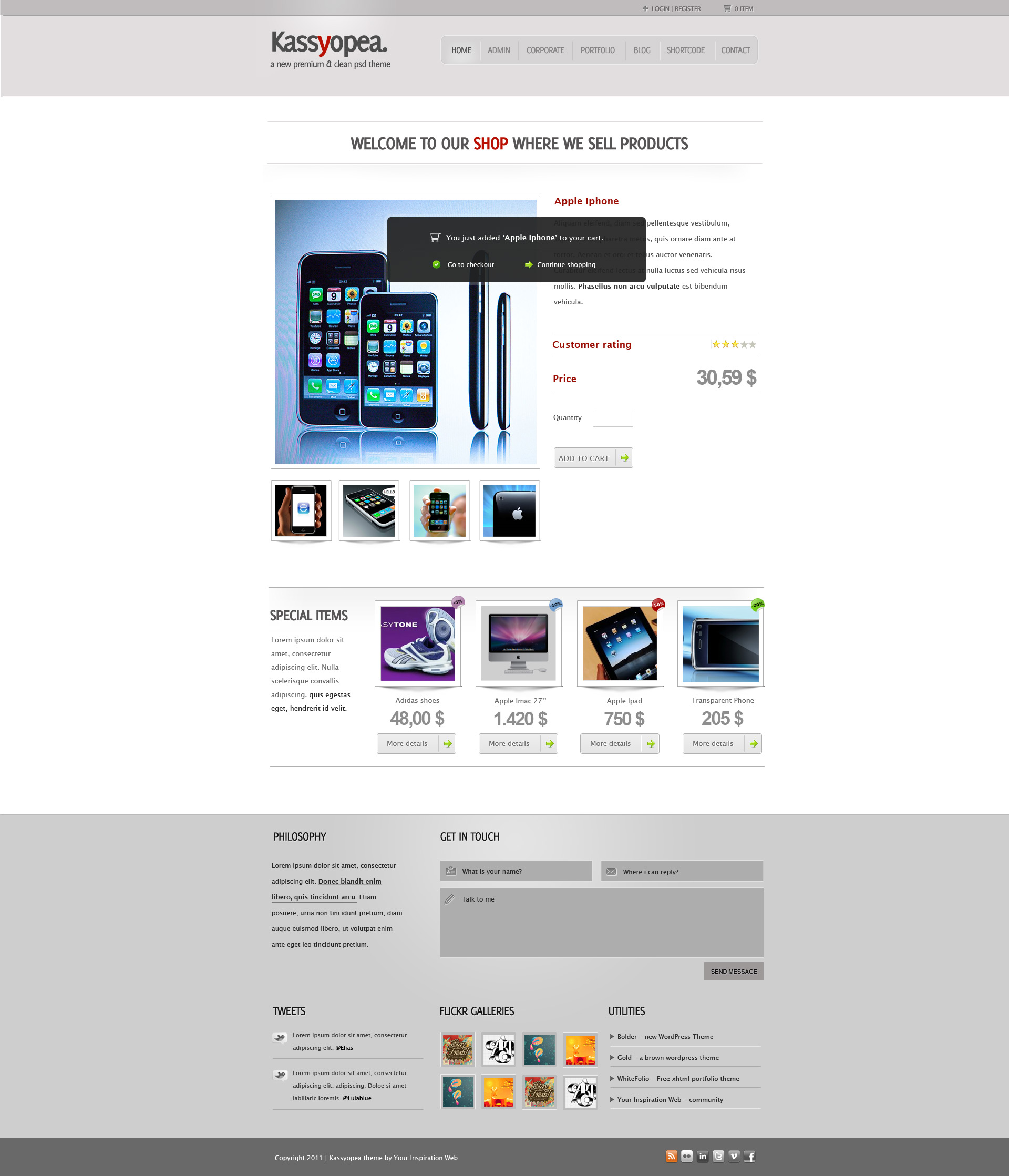 Kassyopea All In One: Ecommerce + Corporate - 13_add_cart