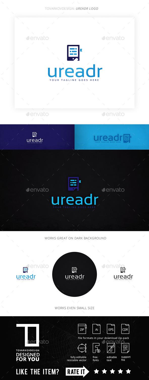 Ureadr E-book Logo Template