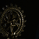 Goddess Buddhist Shiva on Black Background