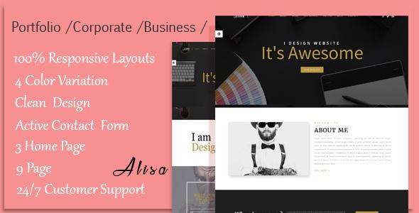 Alisa - Responsive Corporate, Business, Creative , Portfolio & Blog Template