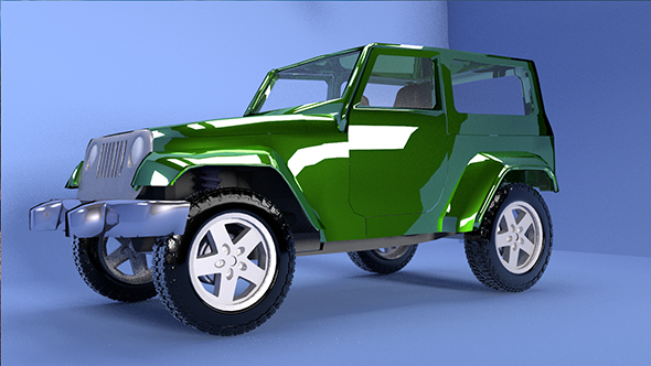 High and Low poly Jeep - 3DOcean Item for Sale