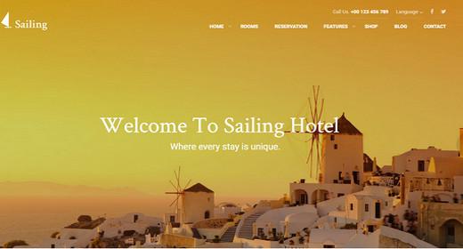 Awesome Hotel WordPress Theme 2016