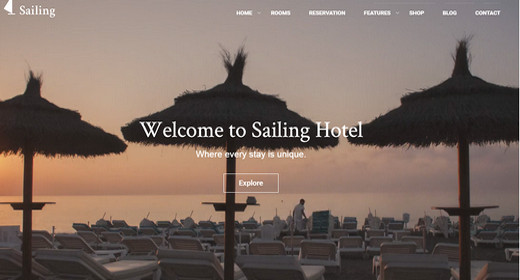 Amazing Hotel WordPress Themes 2016