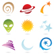 fun space icons - GraphicRiver Item for Sale