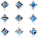 blue diamond icons - GraphicRiver Item for Sale