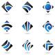blue diamond icons - GraphicRiver Item for Sale