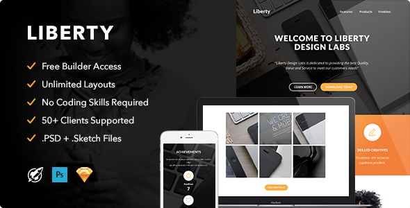 Image of Liberty - Responsive Email + Themebuilder Access