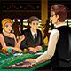 People Gambling in a Casino