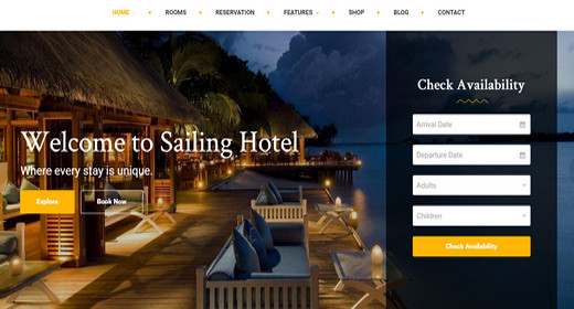 Amazing WordPress Theme Hotel