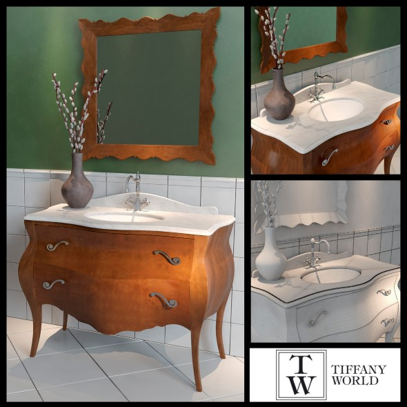 Washbasin Tiffany World Barocco - 3DOcean Item for Sale