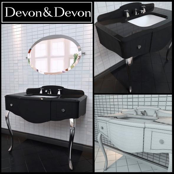 3DOcean Washbasin Devon and Devon console Miami 17589722