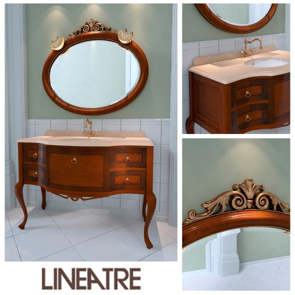 Washbasin Lineatre Savoy - 3DOcean Item for Sale