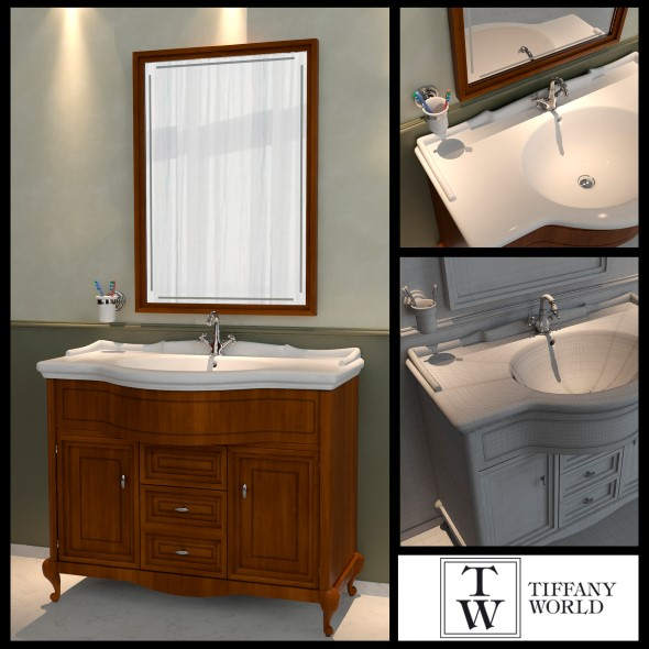 Washbasin Tiffany World Dover - 3DOcean Item for Sale