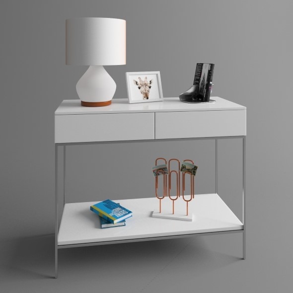 Console with lamp - 3DOcean Item for Sale