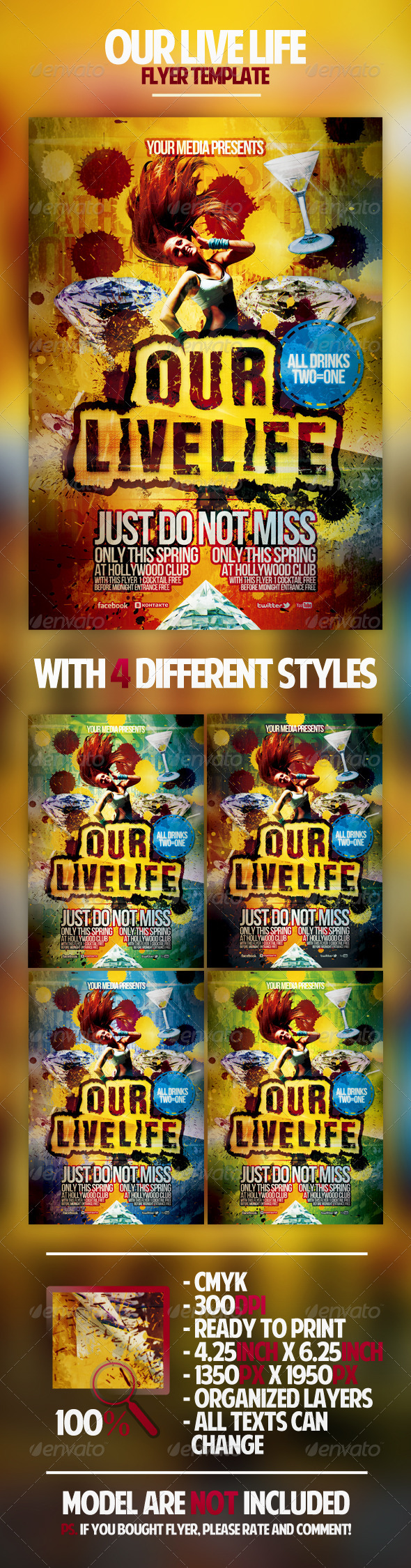 Graphic River Our Live Life Flyer Template Print Templates -  Flyers  Events  Clubs & Parties 1750744
