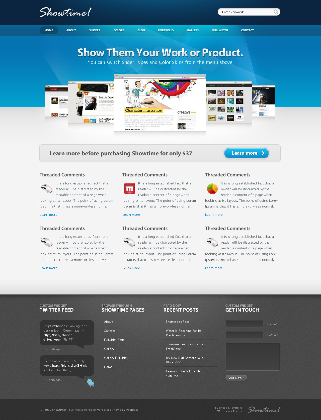 Showtime - Business and Portfolio WordPress Theme - Screenshot