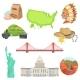 USA National Symbols Set