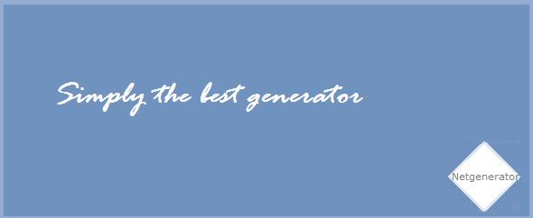 netgenerator