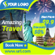Multipurpose Travel and Vacation Banner
