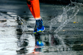 legs men in marathon compression socks