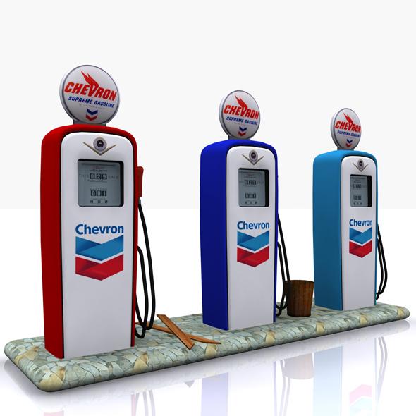 3DOcean Gas Pump Chevron 17601940