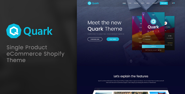 Quark - Single Product Shopify Theme