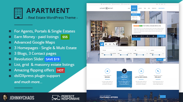 Download Apartment WP - Real Estate Responsive WordPress Theme for Agents, Portals & Single Property Sites
