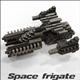 Space frigate (voxel model)