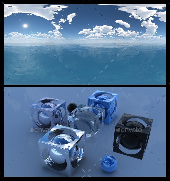 3DOcean Ocean Blue Clouds 12 HDRI 17606085