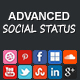 Advanced Social Status WordPress Social Counter