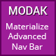 Modak - Materialize Advanced Navbar