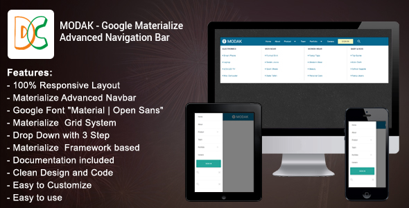 Download Modak - Materialize Advanced Navbar nulled download