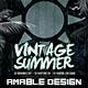 Vintage Summer Flyer/Poster