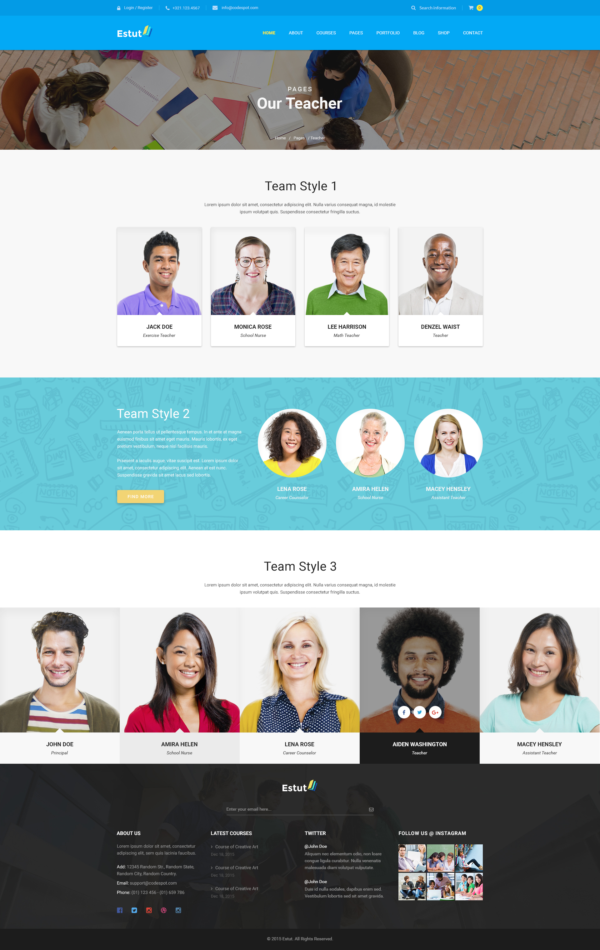 Estut Education WordPress Theme Material Design