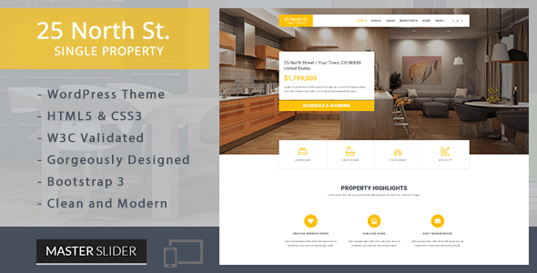 25 North – Single Property Real Estate WordPress Theme (Real Estate) images