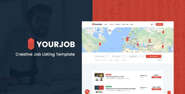 YourJob | Job Listing, Job Portal Directory Responsive Site Template