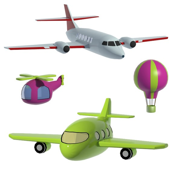 Lowpoly planes set - 3DOcean Item for Sale