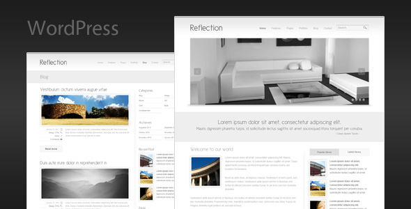 Reflection - Minimalist Business WordPress Theme
