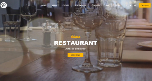WordPress Theme Restaurant 2016