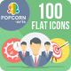 100 Business and Office Round Icons