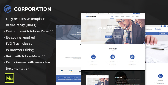 Corporation - Responsive Corporate Portfolio Template