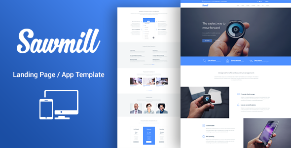 Download Responsive WordPress Landing Page Theme - Sawmill nulled download