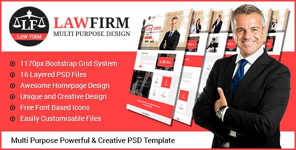 Law Firm - Multi Purpose PSD Template