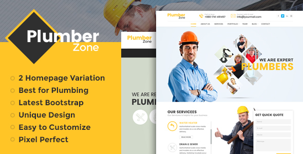 Download Plumber Zone - Plumbing, Repair & Construction WordPress Theme nulled download